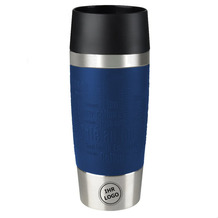 emsa Isolierbecher MIT GRAVUR (z.B. Logo) TRAVEL MUG Manschette blau 360ml