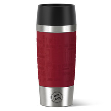 emsa Isolierbecher MIT GRAVUR (z.B. Logo) TRAVEL MUG Manschette rot 360ml