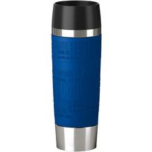 emsa Isolierbecher TRAVEL MUG Grande Manschette, Blau, 0,50 Liter