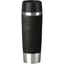 emsa Isolierbecher TRAVEL MUG Grande Manschette, Schwarz, 0,50 Liter