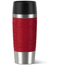emsa Isolierbecher TRAVEL MUG Manschette rot, 0,36 Liter