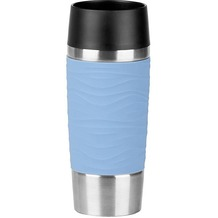 emsa Isolierbecher TRAVEL MUG Waves hellblau 0,36 Liter
