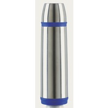 emsa Isolierflasche CAPTAIN, Edelstahl/Blau, 1,00 Liter