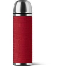 emsa Isolierflasche SENATOR Manschette, Rot, 1,00 Liter
