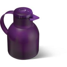 emsa Isolierkanne SAMBA, Transluzent Aubergine, 1,00 Liter, QuickPress