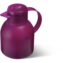 emsa Isolierkanne SAMBA, Transluzent Himbeer, 1,00 Liter, QuickPress