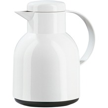 emsa Isolierkanne SAMBA, Weiß, 1,00 Liter, QuickPress
