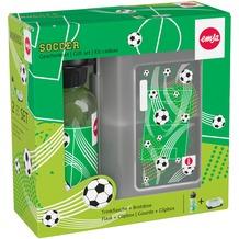 emsa KIDS TRITAN Trinkflasche & VARIABOLO Brotdose, Geschenk-Set, Soccer