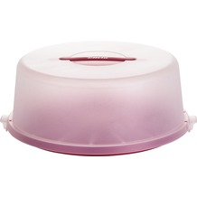 emsa Kuchenbutler BASIC Tortenhaube, Ø 33 cm, Rot-Transluzent