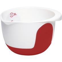 emsa Mix&Bake Rührtopf, weiß/rot, 2,0 L
