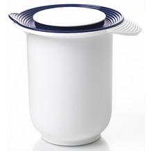 emsa Rührtopf SUPERLINE Quirltopf mit Deckel, 1,20 Liter, Weiß/Blau