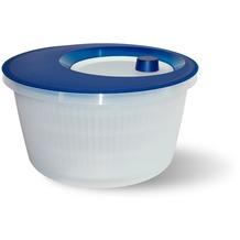 emsa Salatschleuder BASIC, Transluzent-Blau/Weiß, 4,00 Liter