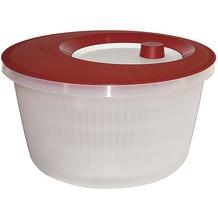 emsa Salatschleuder BASIC, Transluzent-Rot/Weiß, 4,00 Liter