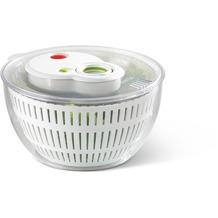 emsa Salatschleuder TURBOLINE, Weiß/Transparent, 4,50 Liter