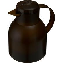 emsa Isolierkanne SAMBA, Transluzent Dunkelbraun, 1,00 Liter, QuickPress