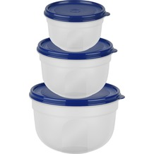 emsa SUPERLINE Frischhalte-Set rund/hoch blau
