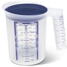 emsa Superline Mess-/Mixbecher, weiß-blau, 1,25 L