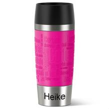 emsa Thermobecher MIT GRAVUR - UNTEN - (z.B. Namen) TRAVEL MUG Manschette Himbeere pink 360ml