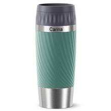 emsa Travel Mug Easy Twist MIT GRAVUR - OBEN - (z.B. Namen) 0,36L grün Petrol