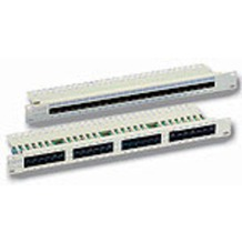 Equip PatchPanel 25-Port Cat.3 ISDN/TK LSA+ (1HE)  lichtgrau