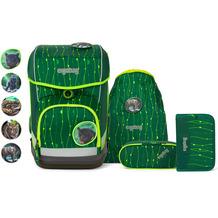 ergobag Cubo Light Schulranzen-Set 5tlg. inkl. Klettie-Set rambazambär grüne lianen