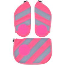 ergobag Cubo Sicherheitsset 3tlg. mit Reflektorstreifen fluo pink reflektierende streifen pink