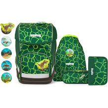 ergobag Cubo Special Edition Schulranzen-Set 5tlg. inkl. Klettie-Set bärrex lava grün