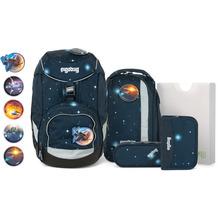 ergobag Pack Schulranzen-Set 6tlg. inkl. Klettie-Set kobärnikus glow blaue galaxie glow