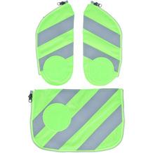 ergobag Zubehör und Accessoires ergobag Sicherheitsset Cubo und Cubo Light 3-tlg mit Reflektorstreifen Grün 213 grün