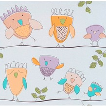 Erismann Papierprägetapete 735009 Lotta Muster/Motiv violett