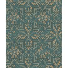Erismann Vinyltapete auf Vlies 633736 Vintage Muster/Motiv grün