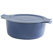 Eschenbach Porzellan COOK&SERVE Kochtopf mit Deckel 2,00 l / 20 cm grau-blau