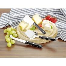 Esmeyer Käse-Set GOURMET MIT GRAVUR (z.B. Namen) 4tlg. inkl. rundem Schneidebrett aus Holz