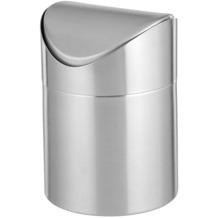 Esmeyer Tischabfallbehälter SWING mit Schwingdeckel, Höhe: 15 cm, Durchmesser: 12 cm Tischabfalleimer Tischmülleimer