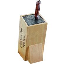 Esmeyer Universal-Messerblock WONDER MIT GRAVUR (z.B. Namen) aus Gummibaumholz