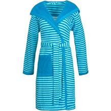"ESPRIT Bademantel ""Striped Hoody"" turquoise L"