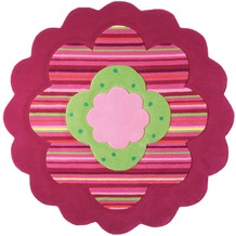 ESPRIT Kinderteppich Flower Shape ESP-2840-06 rosa/pink 100 x 100 cm rund