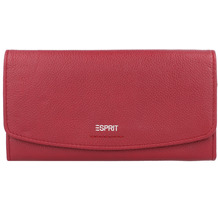 ESPRIT Geldbörse Leder 19 cm garnet red