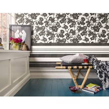 ESPRIT florale Mustertapete Fall in Love Vliestapete creme metallic schwarz 10,05 m x 0,53 m