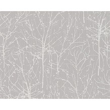 ESPRIT Mustertapete Woods, Vliestapete, graubeige, signalweiß 10,05 m x 0,53 m