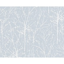 ESPRIT Mustertapete Woods, Vliestapete, pastellblau, signalweiß 10,05 m x 0,53 m