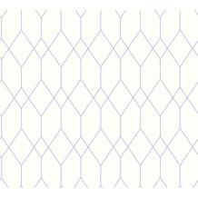 ESPRIT skandinavische Mustertapete Eco of Nature Papiertapete lila weiß 10,05 m x 0,53 m