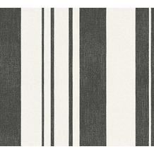ESPRIT Streifentapete Fall in Love Vliestapete creme metallic schwarz 10,05 m x 0,53 m