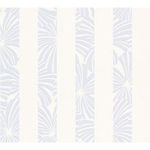 ESPRIT Streifentapete Play in Summer Vliestapete blau creme weiß 10,05 m x 0,53 m