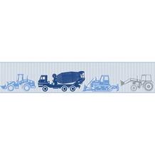 esprit kids Bordüre Borte blau grau metallic 5,00 m x 0,13 m