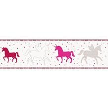 esprit kids Bordüre Borte grau rosa rot 5,00 m x 0,17 m