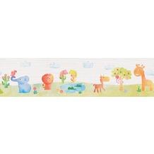 """ESPRIT Kids Bordüre """"Zoo"""", Papier, bunt 5,00 m x 0,13 m"""