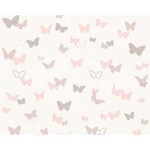 ESPRIT Kids Mustertapete Sweet Butterfly, Vliestapete, beige, rosa, weiß 10,05 m x 0,53 m