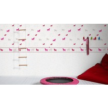 esprit kids Vliestapete Lucky Love Tapete grau rosa rot 10,05 m x 0,53 m