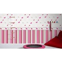 esprit kids Vliestapete Tapete grau rosa rot 10,05 m x 0,53 m